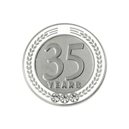 PinMart's 35 Years of Service Award Employee Recognition Gift Lapel Pin - - Employee Recognition Gifts