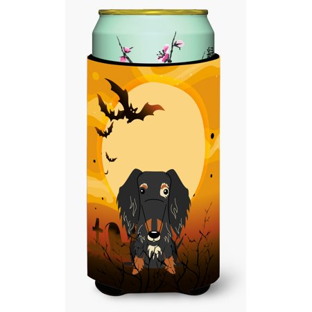 Halloween Wire Haired Dachshund Dapple Tall Boy Beverage Insulator Hugger BB4394TBC