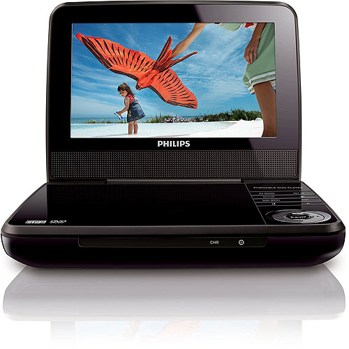"Philips 7"" Portable DVD Player (PET741B) Refurbished"