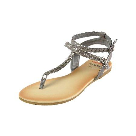 d9945ccd8211 Alpine Swiss - Alpine Swiss Womens Gladiator Sandals Braided T-Strap  Slingback Roman Flats - Walmart.com