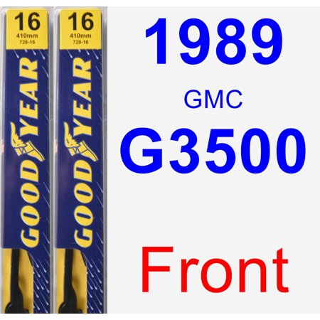 1989 GMC G3500 Wiper Blade Set/Kit (Front) (2 Blades) - Premium ()