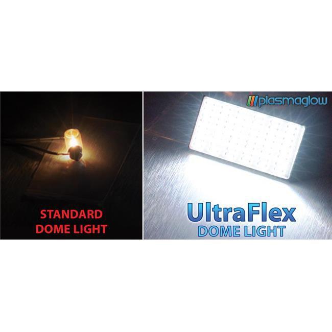 PlasmaGlow 10565 UltraFlex LED Dome Light - 1inch x 1inch - WHITE