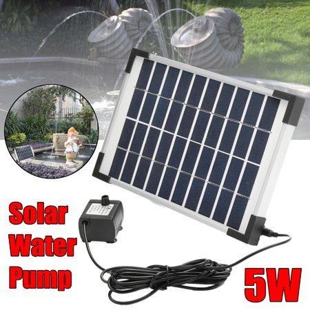 5W 500L/h Brushless DC Solar Panel Power Water Pump Garden Pond Pool Water Feature Submersible Fountain Pond ()