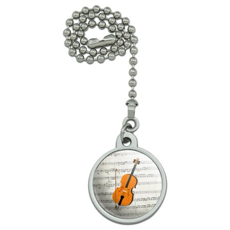 Cello Sheet Music Notes Treble Clef Ceiling Fan and Light Pull Chain (Music Note Lights)