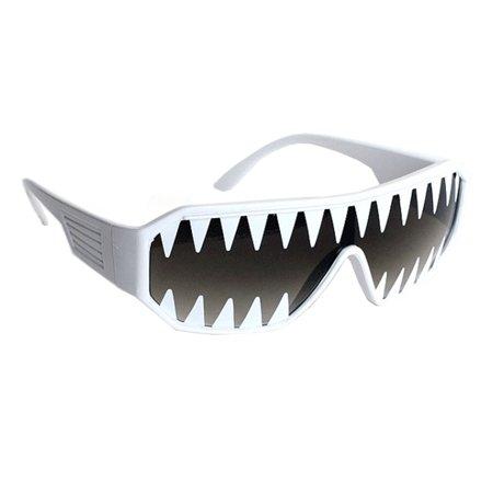 Macho Wrestler Mini Shark Teeth Shield Sunglasses Randy Savage Costume Wrestler