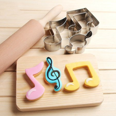 Heepo Music Note Shape Cute Cake Cookie Mold Decorating DIY Fondant Cutter Baking Tool (Halloween Cookies Decorating Ideas)