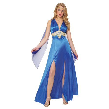 Costume Culture Sapphire Goddess 2pc Small (4-6) Women Costume, Deep Blue](Costume Couture)
