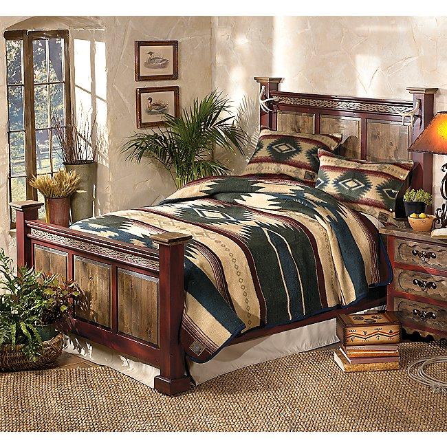 Lone Star Western Decor Antler Alder Wood Bed - King