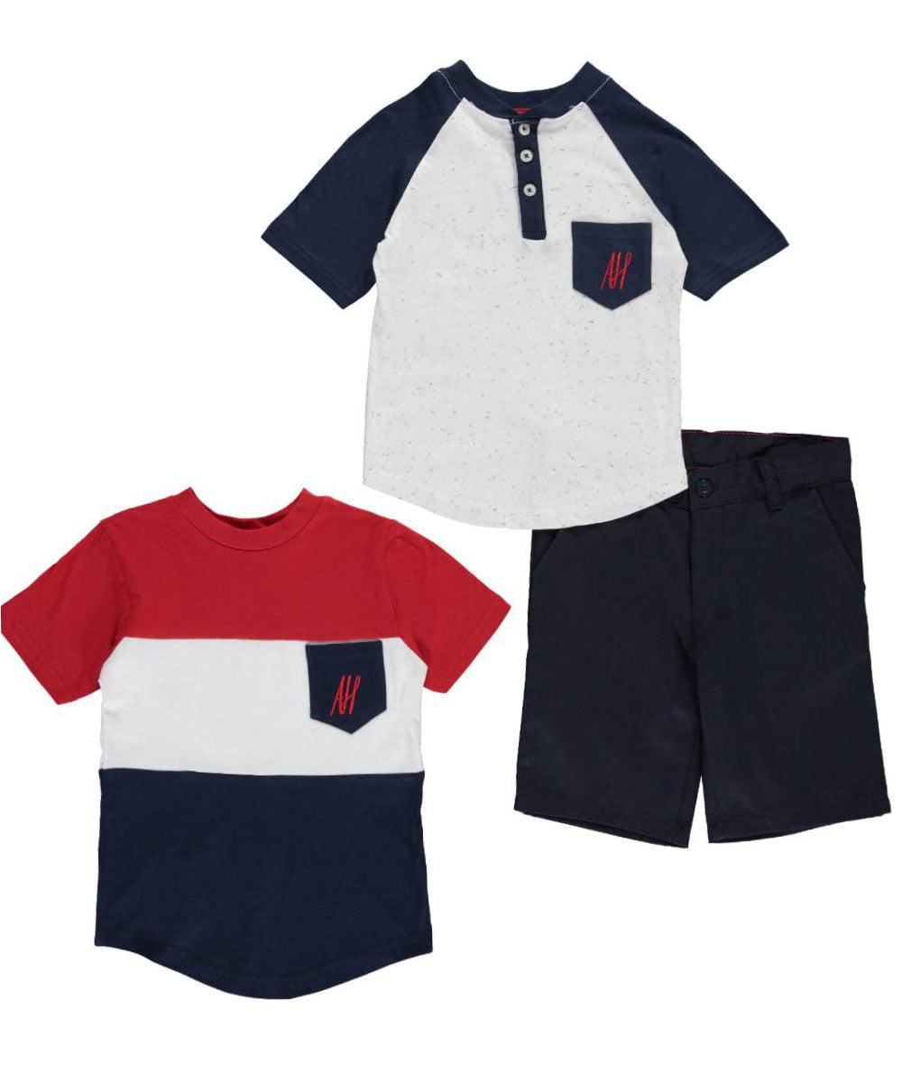 Infant Boys American Hawk 3pc Shirts /& Shorts Set Size 3//6 Months 6//9 Months