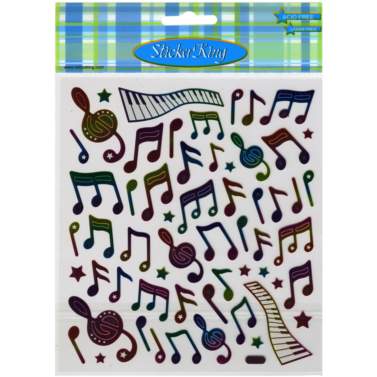 Multicolored Stickers-Music Notes