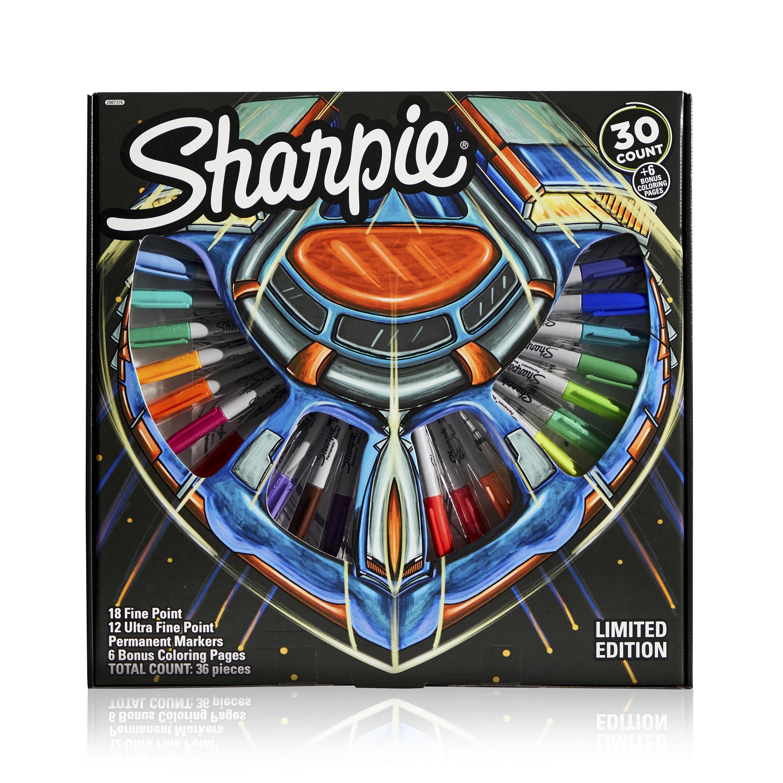 Sharpie Permanent Marker 30 Piece Set - Multicolor - 6 Bonus Activity Pages - Walmart.com