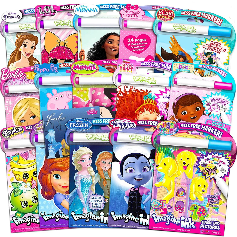 - Imagine Ink Coloring Book Assorted Set For Girls (Bundle Includes 6  Different No Mess Coloring Books ) - Walmart.com - Walmart.com