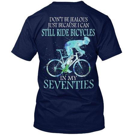Cycling At Seventies Man Shirt Hanes Tagless Tee - Seventies Clothes