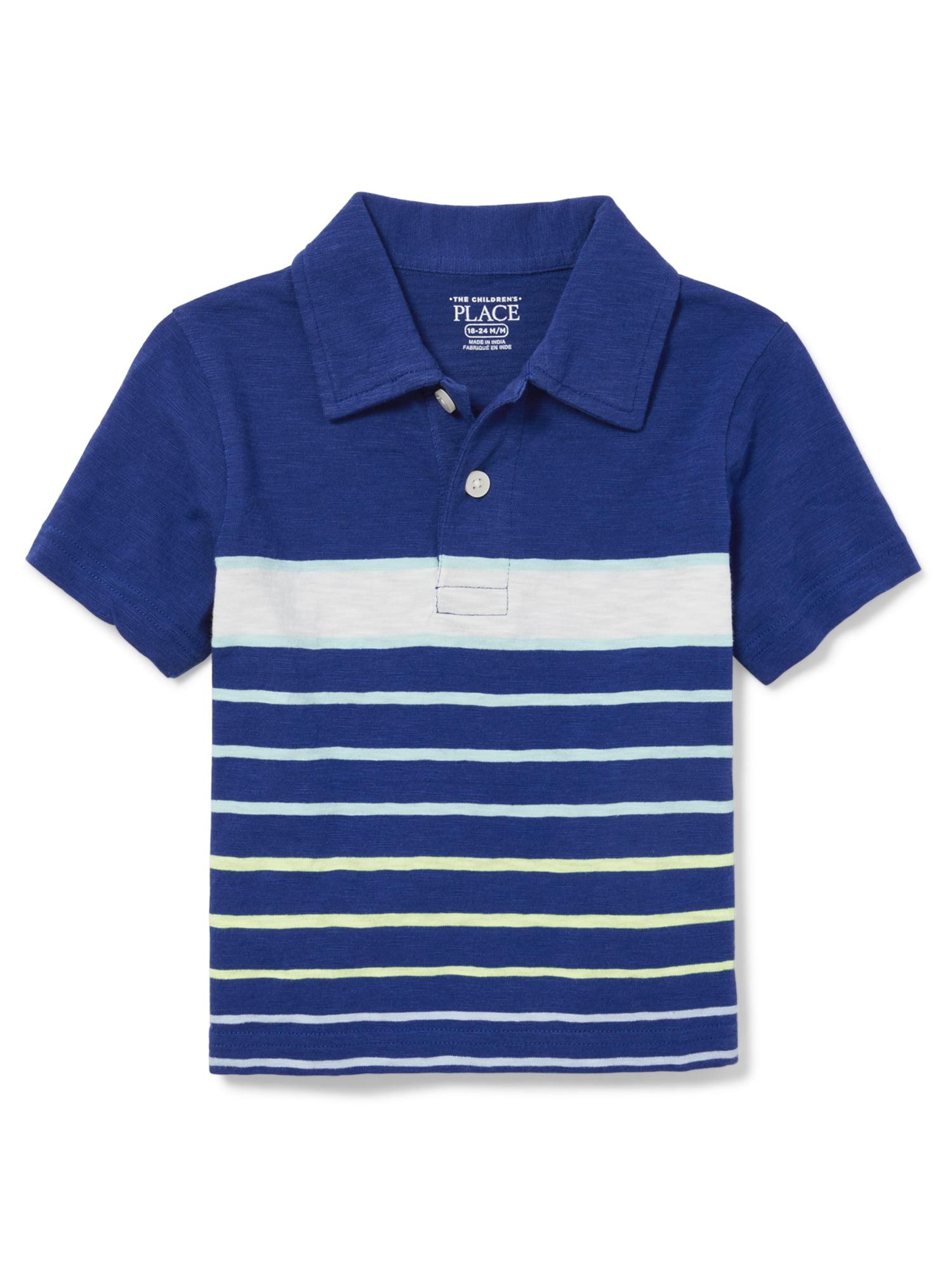 Toddler Boys Striped Short Sleeve Collared Polo (Toddler Boys)