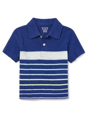 fd271f73f Product Image The Children's Place Toddler Boys Striped Short Sleeve  Collared Polo (Toddler Boys)
