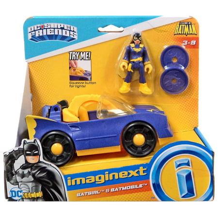 DC Super Friends Imaginext Batgirl & Batmobile Figure Set