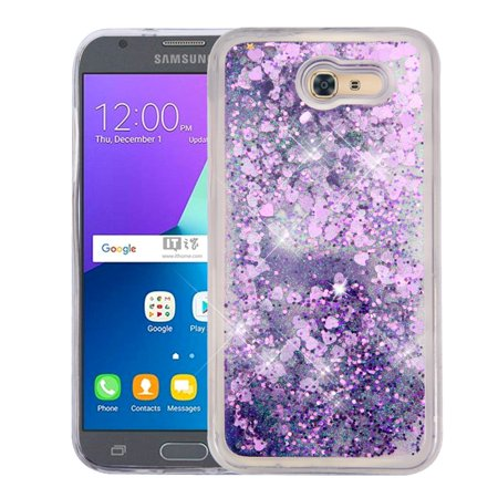 - Samsung Galaxy J3 Luna Pro case by Insten Luxury Quicksand Glitter Liquid Floating Sparkle Bling Fashion Phone Case Cover for Samsung Galaxy J3 Luna Pro / J3 (2017)