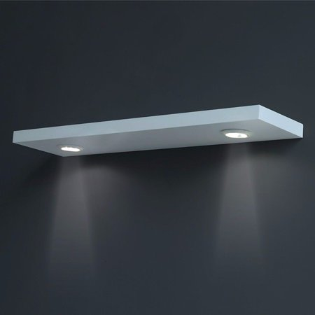 welland 36 floating wall shelf with led lights white. Black Bedroom Furniture Sets. Home Design Ideas