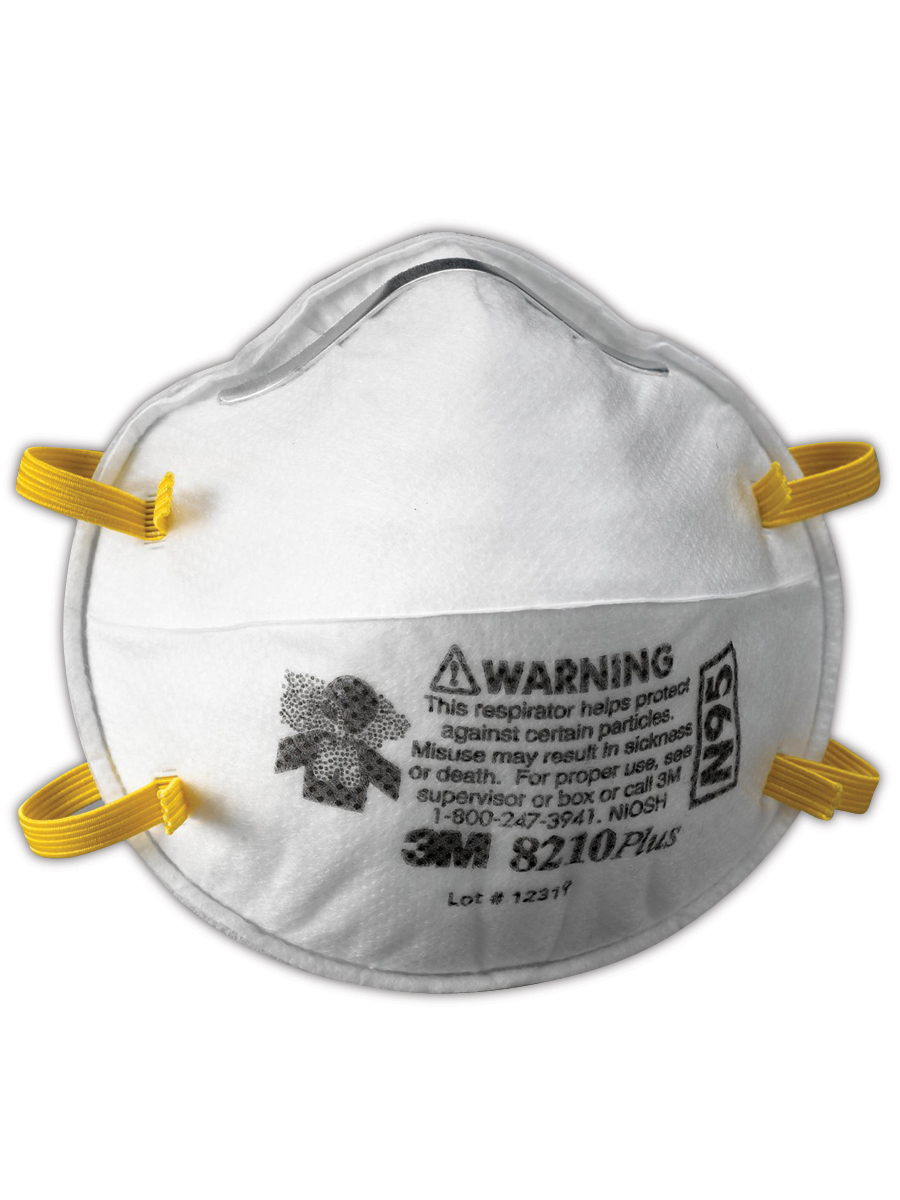 3M 8210P N95 Disposable Particulate Respirator, 20 DP by Erb safety