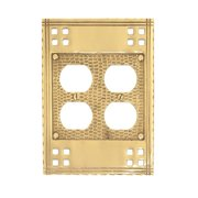 BRASS Accents Arts and Crafts Double Outlet Wall Plate (Set of 2)