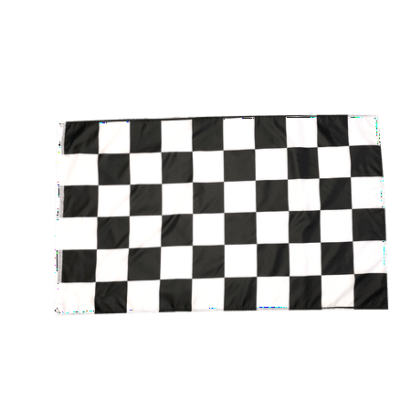 3x5 Foot Checkered Flag Double Stitched Racing Flag with Brass Grommets | 3 by 5 Foot Premium Indoor Outdoor Polyester Banner (Checkered Flag Emoji)