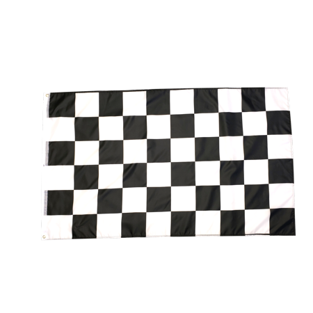 3x5 Foot Checkered Flag Double Stitched Racing Flag with Brass Grommets | 3 by 5 Foot Premium Indoor Outdoor Polyester - Checkered Flag Ring
