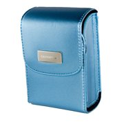 Olympus Satin Camera Carrying Case with Magnetic Closure (Metallic Blue)