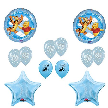 winnie the pooh its a boy baby shower balloons decoration kit](Winnie The Pooh Baby Shower Decorations)
