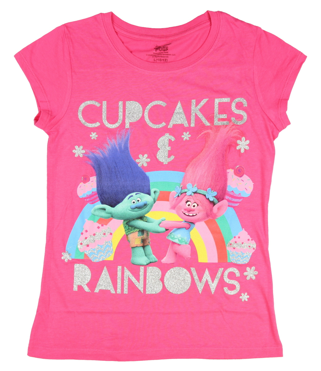 Trolls Movie Cupcakes & Rainbows Girls T-shirt - Walmart.com
