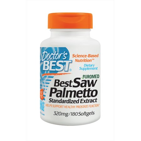 Doctor's Best Saw Palmetto 320mg, Supports Normal Urinary Function, Non-GMO, Gluten Free, Soy Free, 180