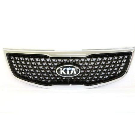 Kia 86350-3W500 Front Hood Radiator Grill 1-pc Set For