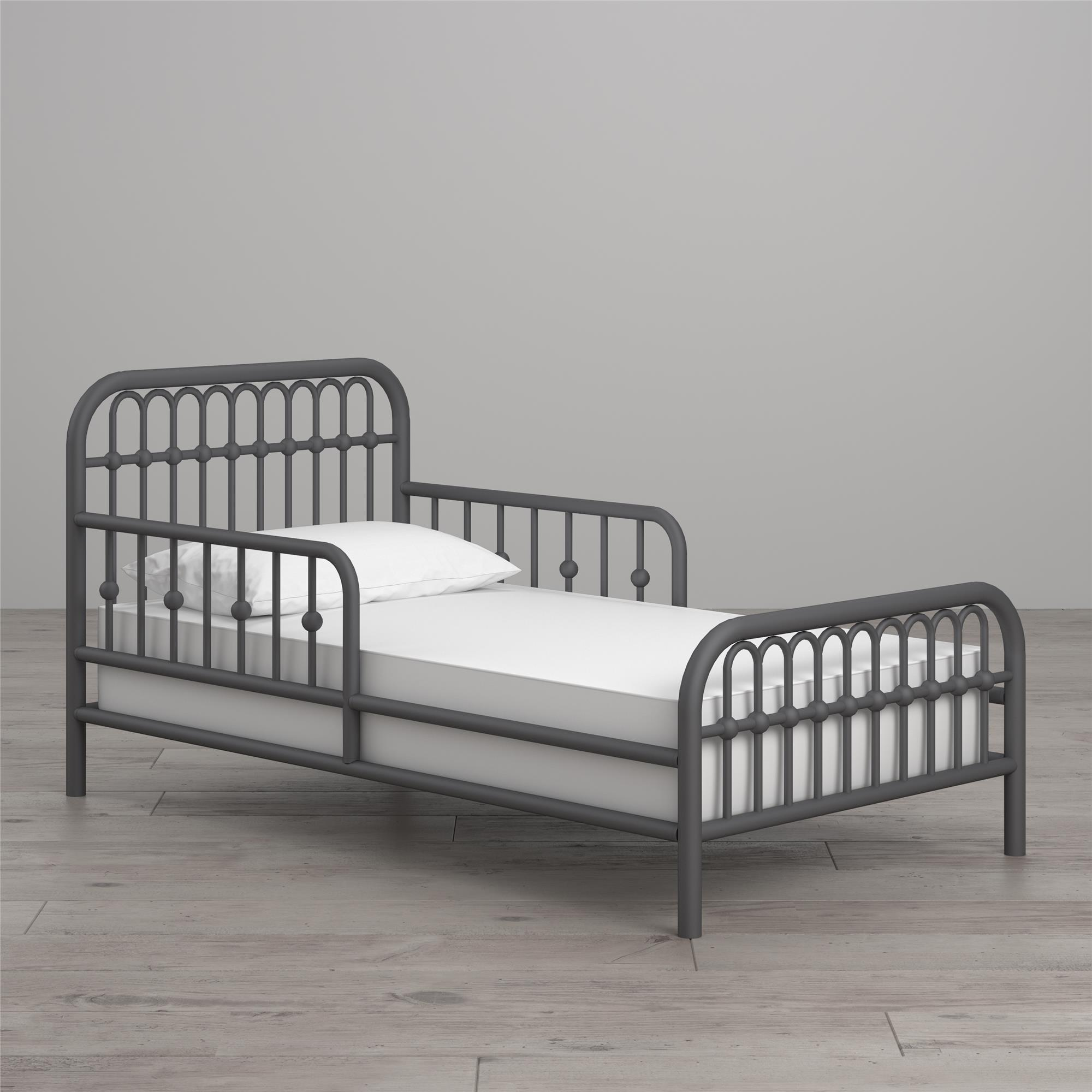 Little Seeds Monarch Metal Toddler Bed, Multiple Colors