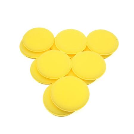 12 Pcs Waxing Polish Foam Sponge Wax Applicator Cleaning Detailing Pads for Car