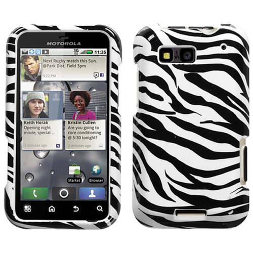 Motorola MB525 Defy MyBat Protector Case, Zebra Skin