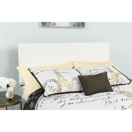 Flash Furniture Bedford Tufted Upholstered Headboard, King, White