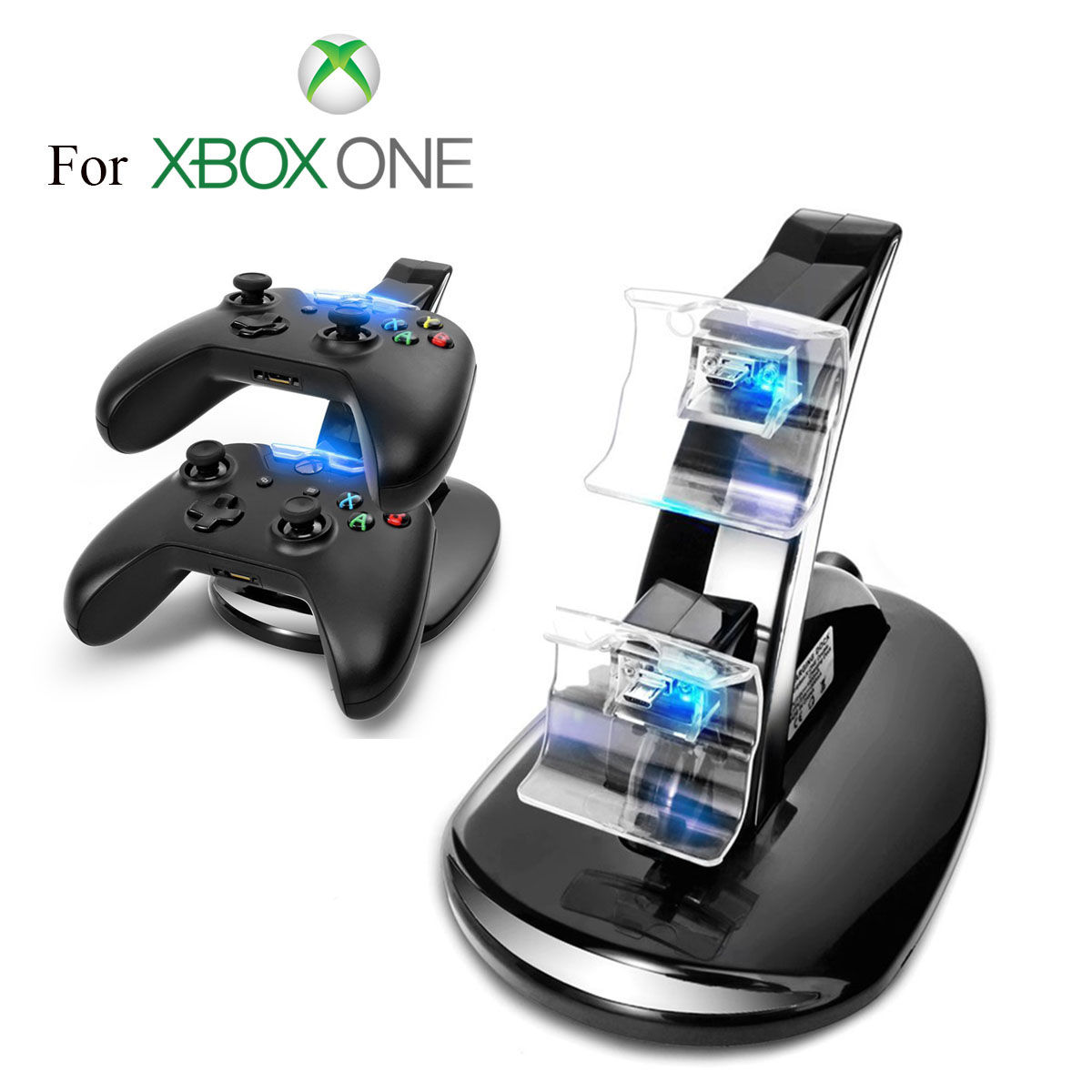 EEEKit Dual Gaming Controller Charging Dock Station Charger for Xbox One Controller