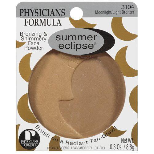 Physicians Formula Summer Eclipse Bronzing and Shimmery Face Powder, Moonlight/Light 3104