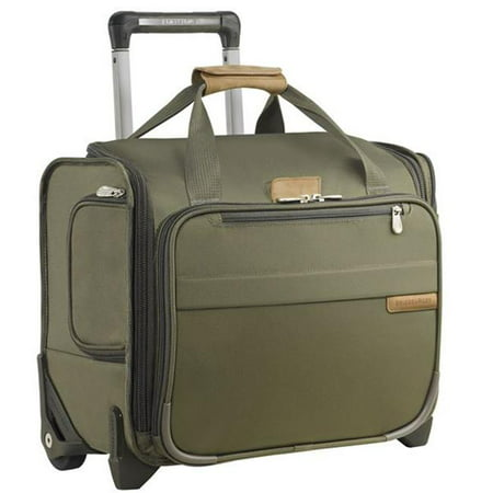 Briggs & Riley U116-7 Baseline Rolling Cabin Bag, Olive (Briggs & Riley Baseline Luggage)