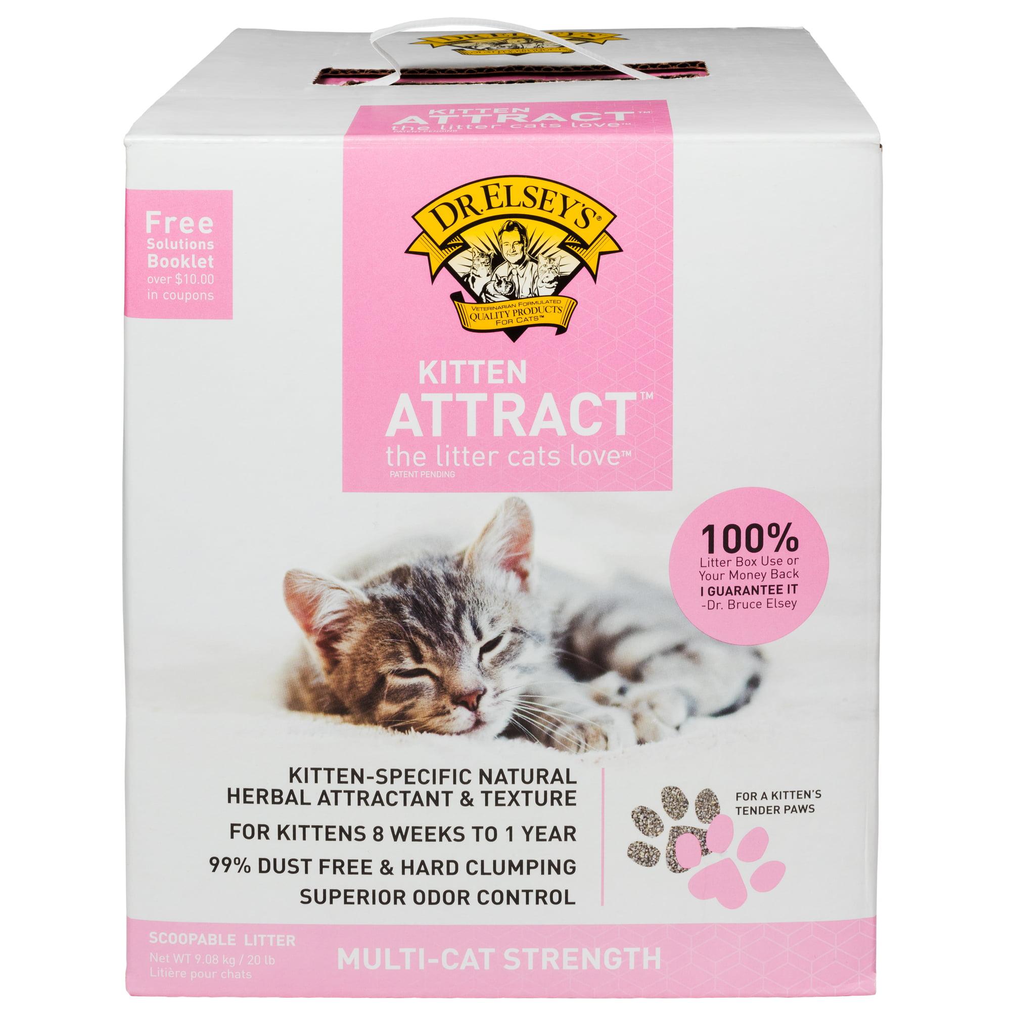 Dr. Elsey's Kitten Attract Training Cat Litter, 20-lb