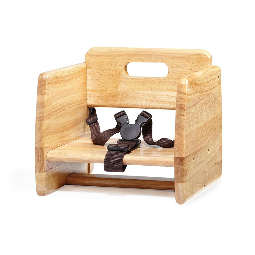 Booster Seat Double Straps Natural Hardwood/Case of 2