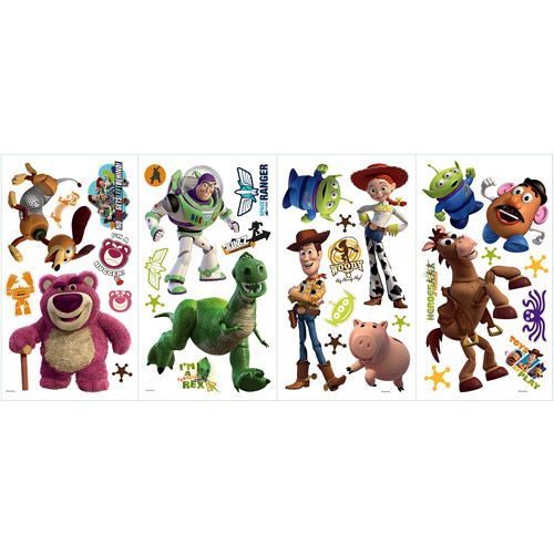 RoomMates Disney Pixar Toy Story 3 Peel and Stick Wall Decals