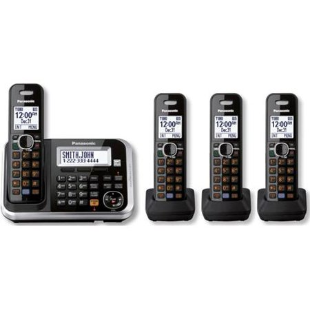Panasonic KX-TG6844B 4 Handset 1.9GHz DECT 6.0 Wall Mountable Cordless Phone New by