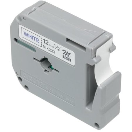 Laminated Tape Thermal Cartridge - Brother P-Touch M Series Tape Cartridge for P-Touch Labelers, 1/2