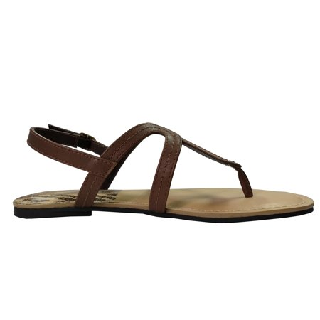57524b0aad7e Time and Tru Women s Omega Sandal – BrickSeek