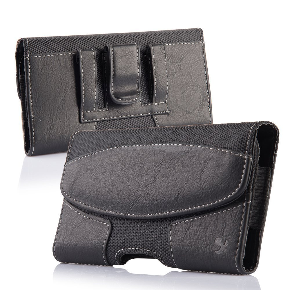 Black5 Horizontal Belt Clip Leather Pouch Case for Samsung Galaxy Ace Style