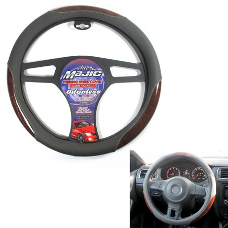 1 Pc Car Truck Steering Wheel Cover Auto Cool Universal Fits Most Gray Wood