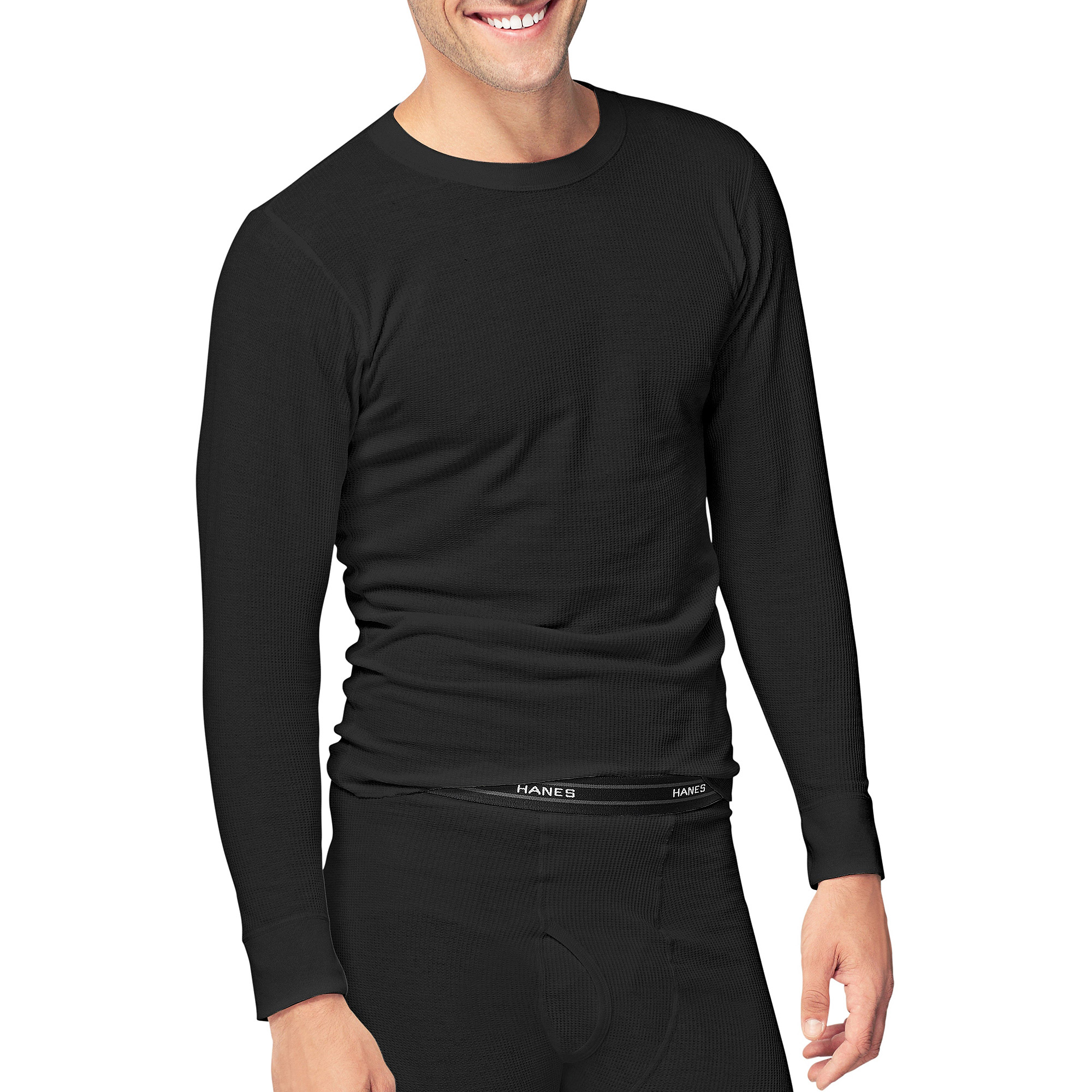 Hanes Men's Beefy Thermal Underwear Crew