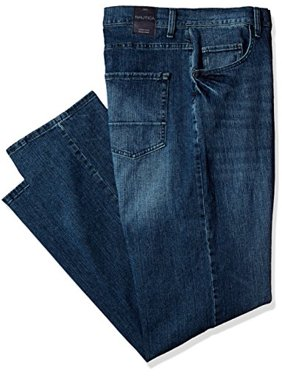 Nautica Men's Big and Tall 5 Pocket Relaxed Fit Stretch Jean, Gulf Stream wash, 44W 32L