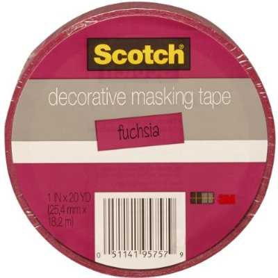 Scotch Decorative Masking Tape .94X 20 Yards-Dark Pink