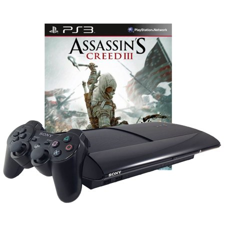 Refurbished Sony PlayStation 3 PS3 500GB Assassin's Creed III 3 Bundle
